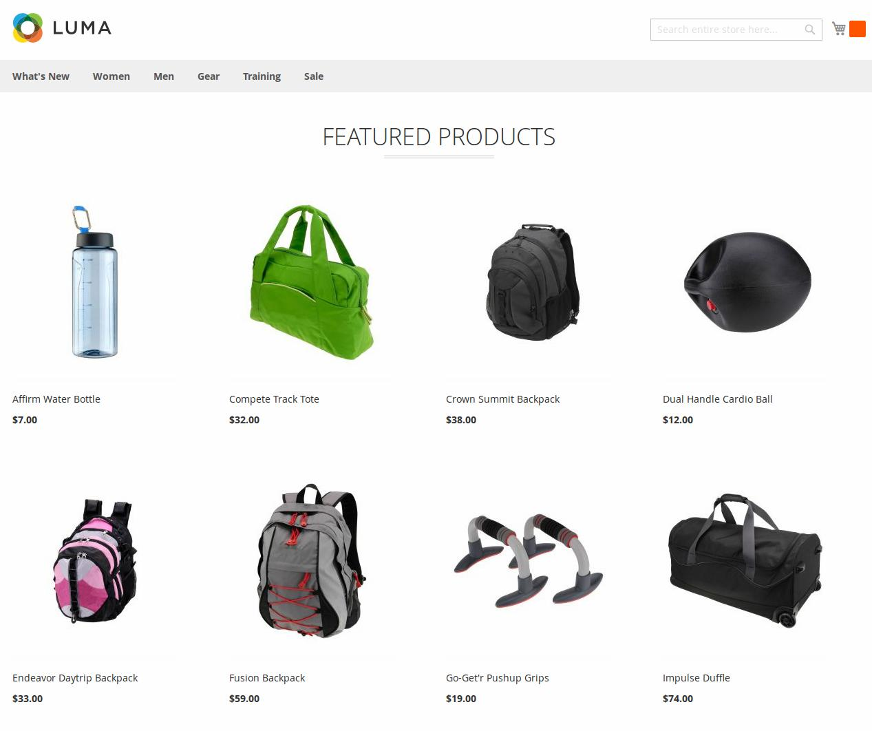 Featured Products in Grid (Luma Theme)