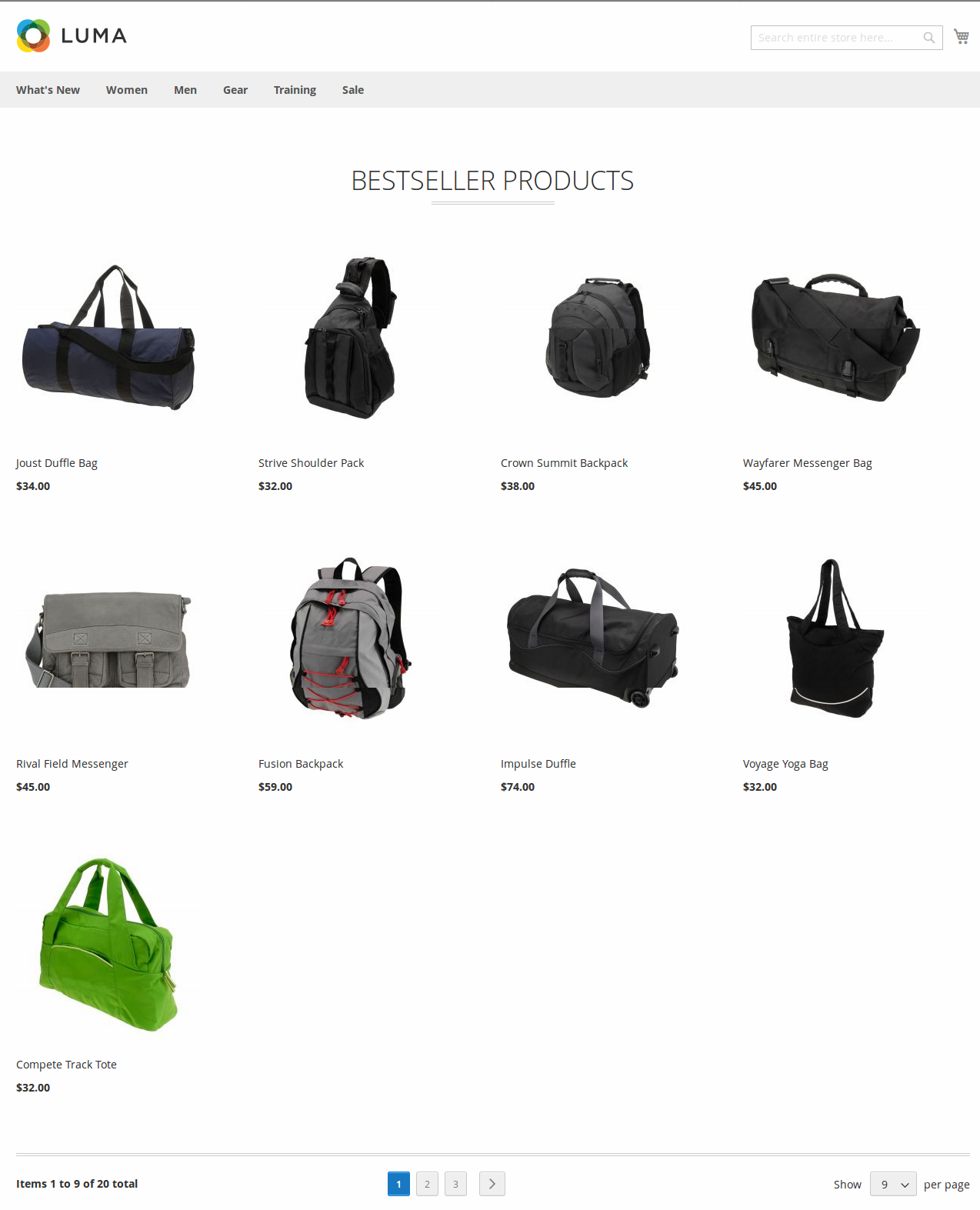 Best Seller Products in Grid (Luma Theme)