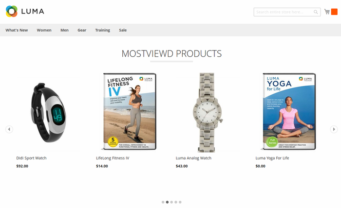 Most viewed Products in Slider (Luma Theme)