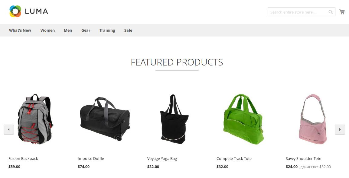 Featured Products in Slider (Luma Theme)