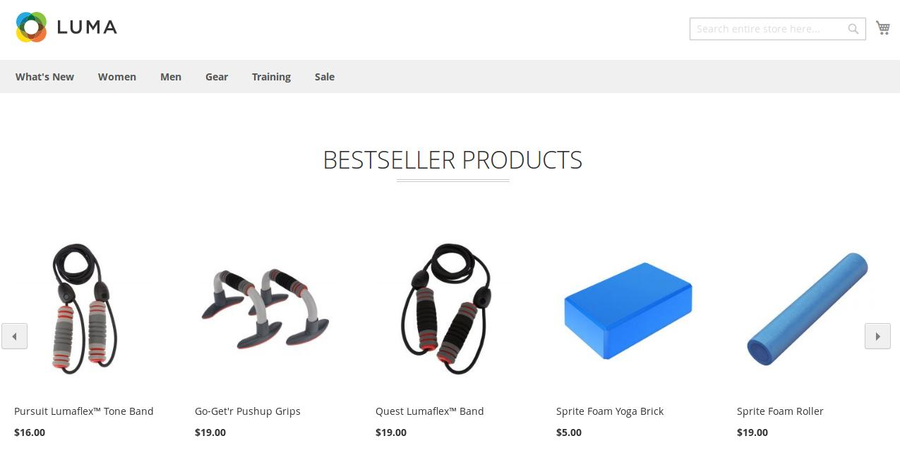 Best Seller Products in Slider (Luma Theme)