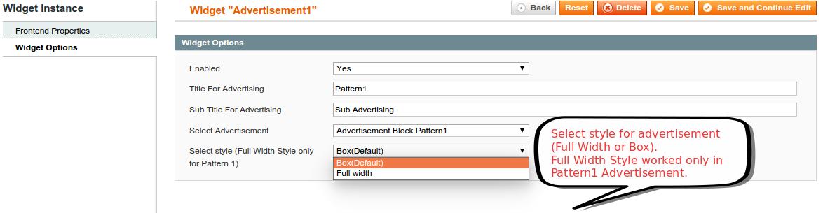 Select Advertisement Style