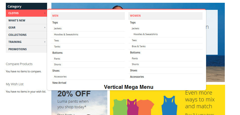 Vertical Mega Menu
