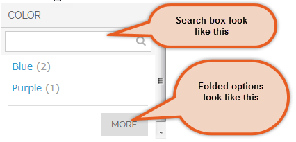 Search Box and Folded Options