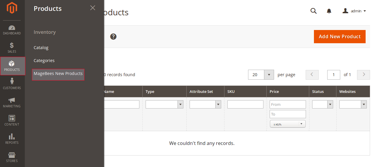Manage New Products Manually