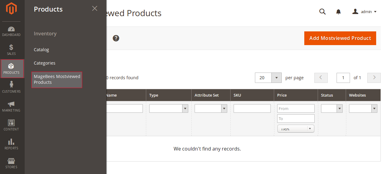 Manage Most viewed Products Manually