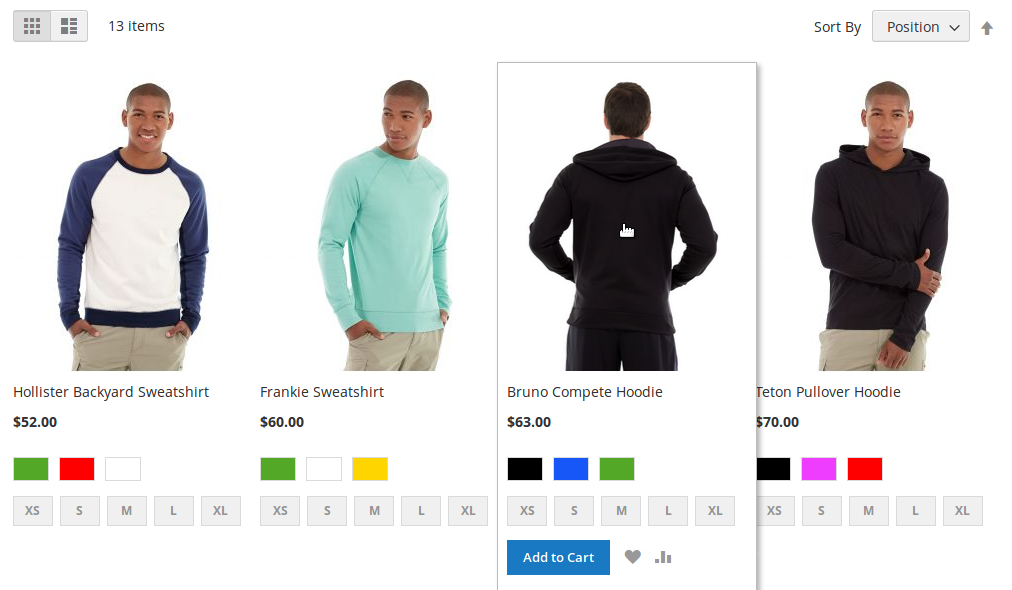 Product Image Flipper in Category Page