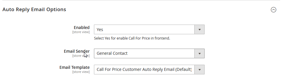Call For Price Auto Reply Settings