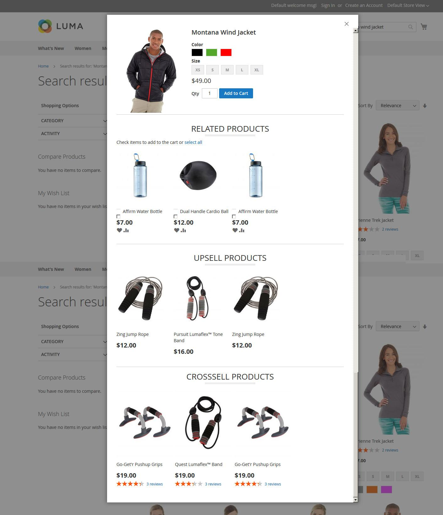 Add To Cart Configurable Product With Related , Upsell , Cross Sell Products