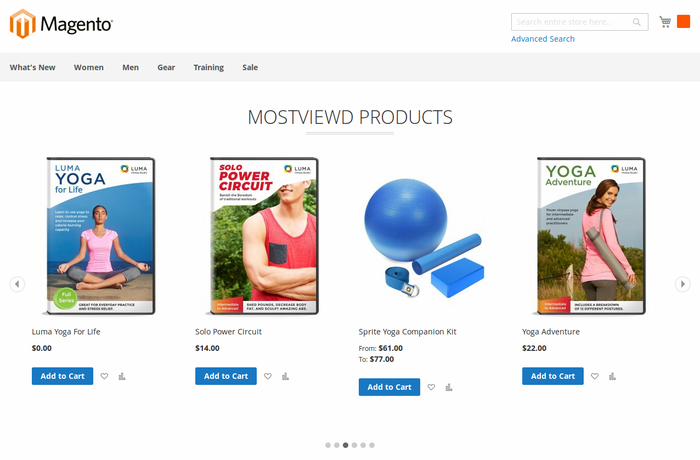 Most viewed Products in Slider (Blank Theme)