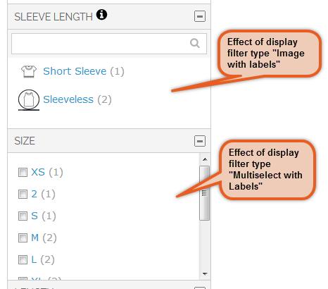 Filter Display Type