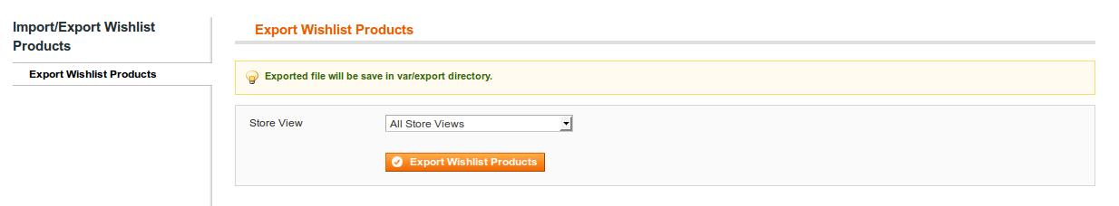 Export Wishlist Products