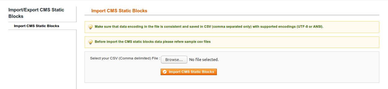 Import CMS Blocks