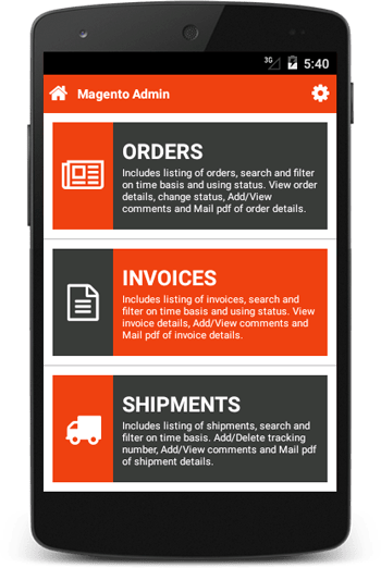 Magento Admin Mobile Android App