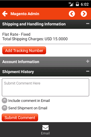 Shipment Detail Page
