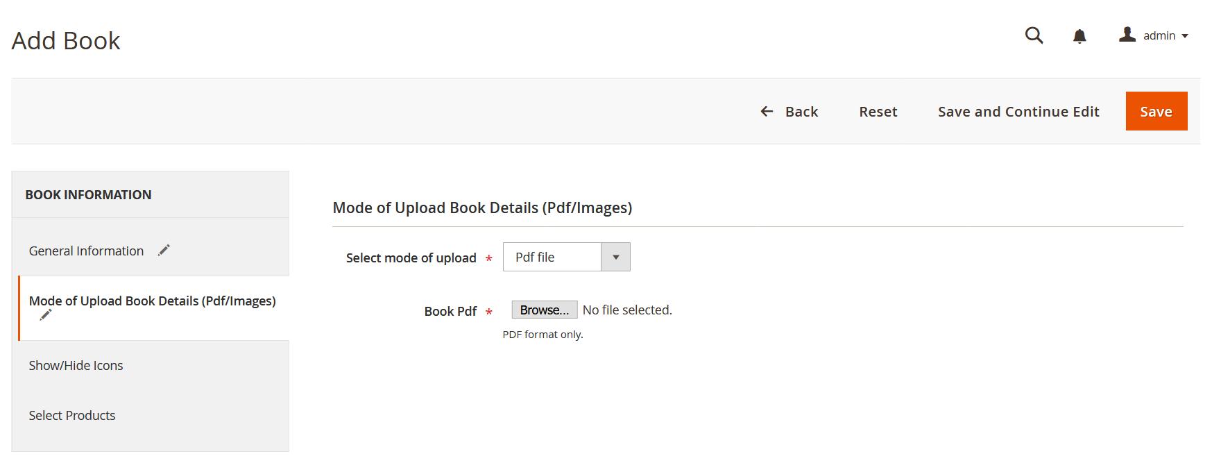Add Mode: PDF