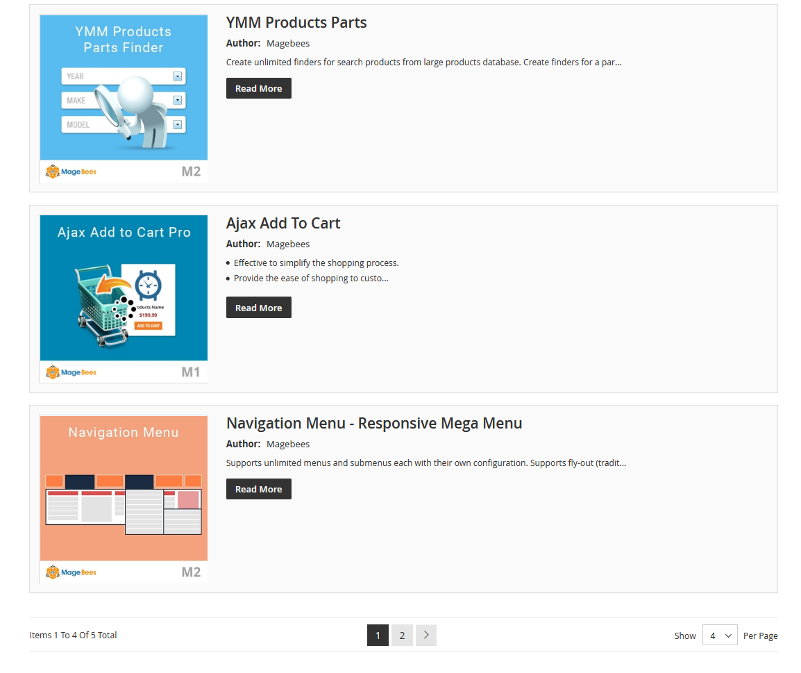 FlipBook CMS Page List View (Full) Example