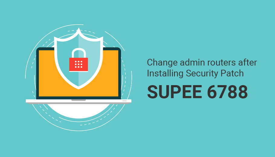 Change admin routers after Installing Security Patch Supee 6788