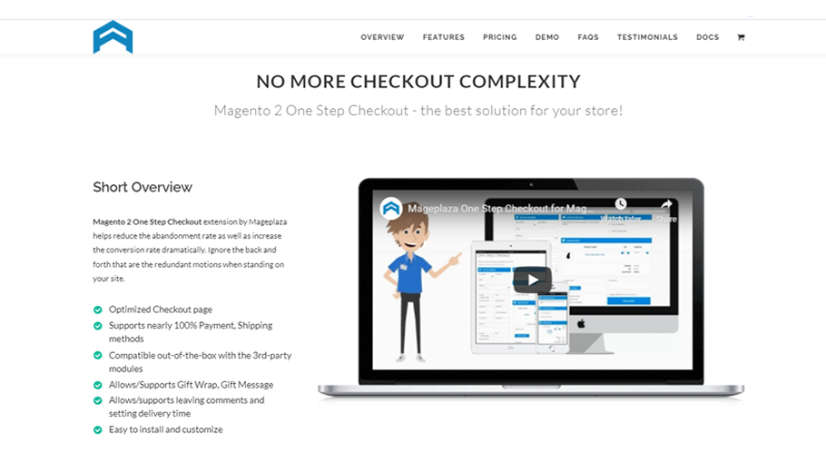 Mageplaza One Step Checkout Extension