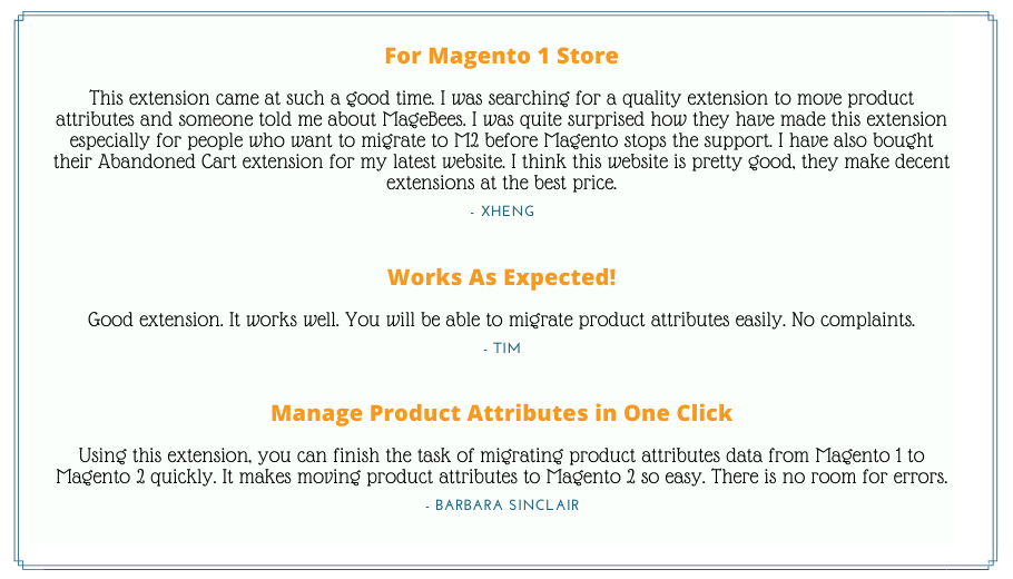 Product Attributes Migration Extension Reviews